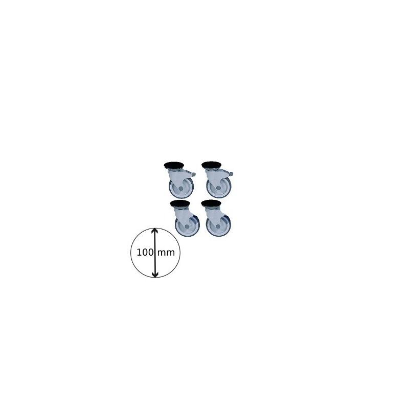 kit de 4 roues syn 100 2 avec freins. Black Bedroom Furniture Sets. Home Design Ideas