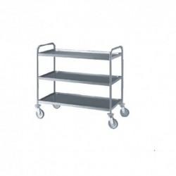 chariot 3 niveaux , Inox 18/10 brossé