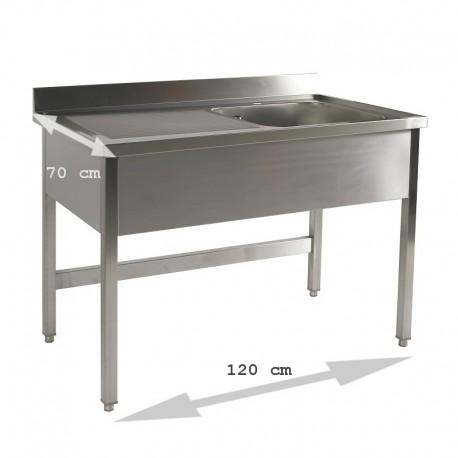 Plonge table 1 bac 1.20 m égouttoir gauche