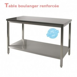 Table boulanger renforcée 1.0 m
