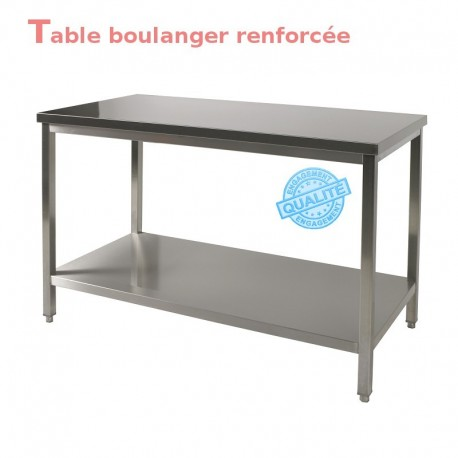 Table boulanger renforcée 1.2 m