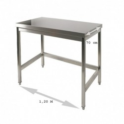 Table inox 1.2 m