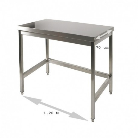 Table inox 1.2 m