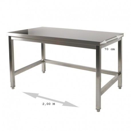 Table inox 2.0 m