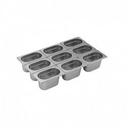 Bac Gastro Inox GN 1/9, hauteur 06.5 cm 10,8x17,6 cm