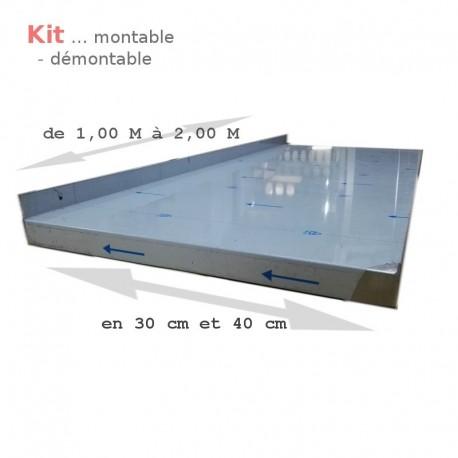 Tablette 1.20 m pour étagère 40cm    ATTENTION ce produit est un KIT vous devez sélectionner plusieurs composants