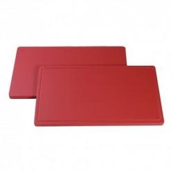 planche de découpe 1/1 GN 53x32.5 rouge viande