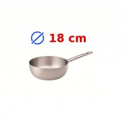 casserole conique inox 18 cm