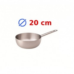 casserole conique inox 20 cm