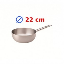 casserole conique inox 22 cm