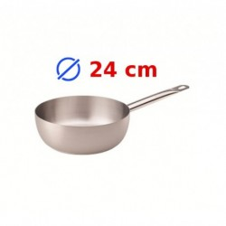 casserole conique inox 24 cm
