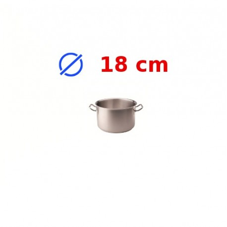 casserole faitout inox 18 cm