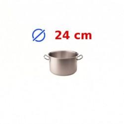casserole faitout inox 24 cm