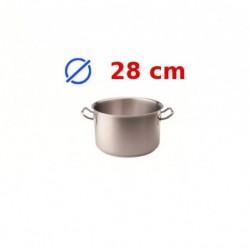 casserole faitout inox 28 cm